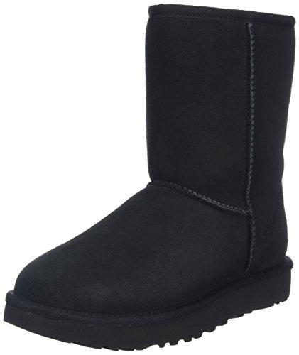 ugg-womens-classic-short-ii-short-boots-black-black-45-uk-6-us-37-eu