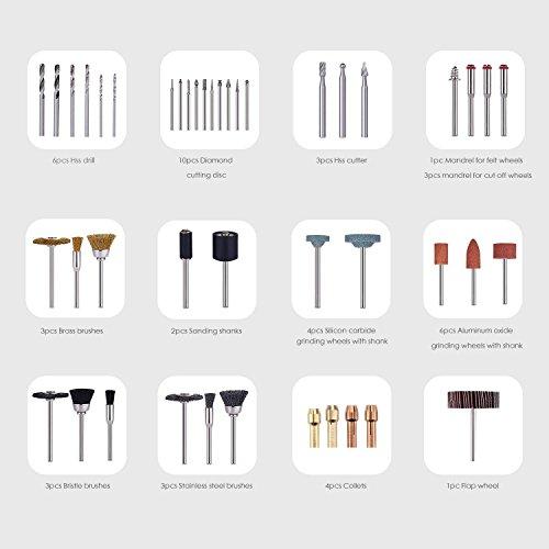 TACKLIFE 282 Aaccesorios de herramientas rotativas,  diámetro de mangos 1/8