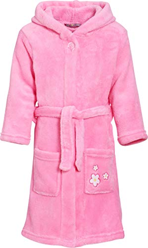 Playshoes Fleece-Bademantel Blumen-Stickerei Bata