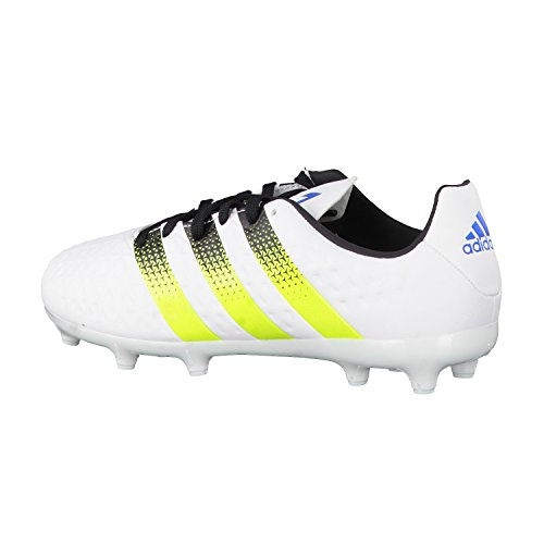 Adidas Ace 16,3FG/AG J Scarpe da calcio, Unisex bambino white-yellow