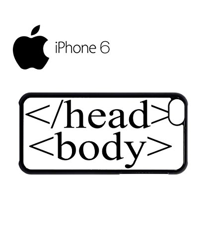 HTML tag code Head Body Swag Mobile Phone Case Back Cover Hülle Weiß Schwarz for iPhone 6 Black Weiß