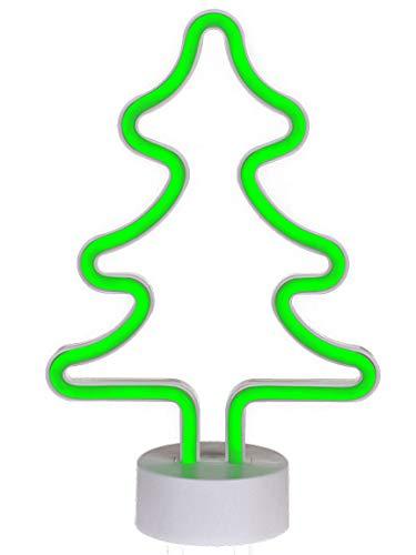Bada Bing LED Neonlicht Tannenbaum Weihnachtsbaum Grün Neon Tischleuchte Dekolicht Stimmungslicht Leuchtreklame 36