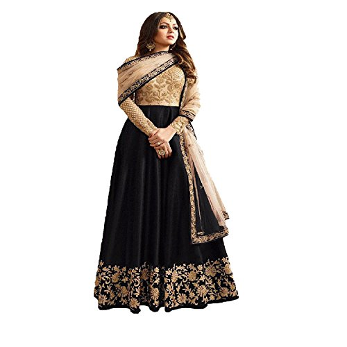 Ethnic Empire Banglory Silk ANd Net womens Semi Stitched Long Anarkali Suit(Ethnic_ER108_Free...