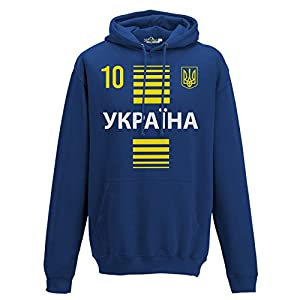 Hoodie Kapuzen-sweat-Shirt National Sport Ukraine Ucraina 10 fussball Sport Europa Tridente 2 KiarenzaFD Streetwear manner