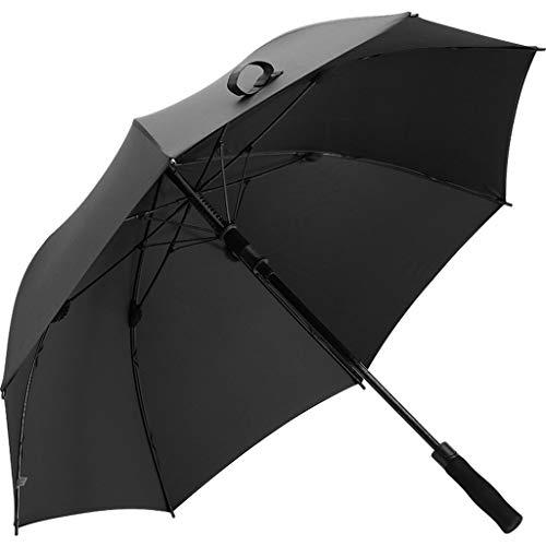 SYXYSM Golfschirm doppelter übergroßer automatischer Regenschirmmänner und Langer Sturmregenschirm der Frauen Regenschirm (Color : Black) -