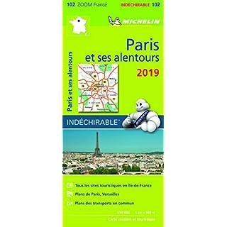 Michelin Paris et ses alentours 2019: Zoom Karte widerstandsfähig 1:90.000 (MICHELIN Zoomkarten)