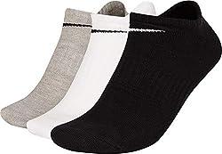 Nike Erwachsene Everyday Lightweight No-Show (3 Paar) Socken, Mehrfarbig, L