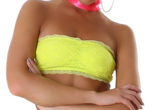 Donne a fascia Top Bustino superiore del tubo rivestito con i migliori colori Giallo