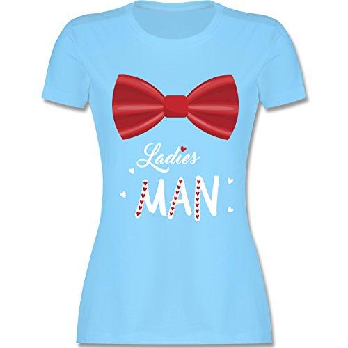 Shirtracer Valentinstag - Ladies Man - Damen T-Shirt Rundhals Hellblau
