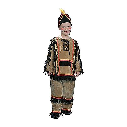 Dress Up America 208-T Indischen Kostüm, boys mehrfarbig Alter 3-4 (Taille 26-28, Höhe 36-39 Zoll) (Alte Indische Kostüm)