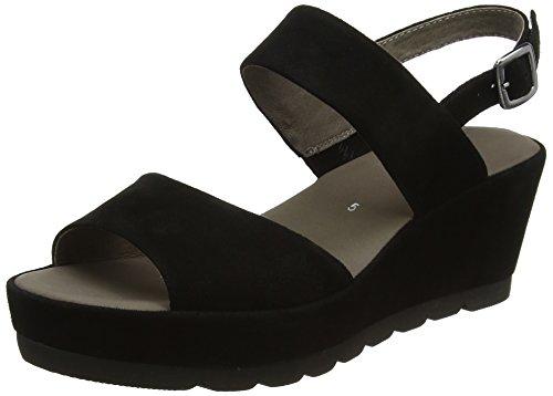 Gabor Fashion, Sandales Bout Ouvert Femme Noir (schwarz 17)