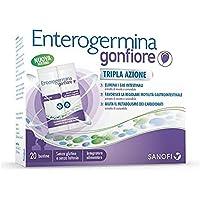 Enterogermina Gonfiore Integratore Alimentare Contro il Gonfiore Addominale Tripla Azione, 20 Bustine, Senza Lattosio e…