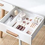 Chris.W Clear Plastic Drawer Organizer Tray for Vanity Cabinet, Set of 5 Storage Tray for Makeup, Kitchen Utensils...
