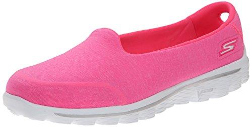 Skechers Performance Women's Go Walk 2 Bind Slip-On Walking Shoe Hot Pink
