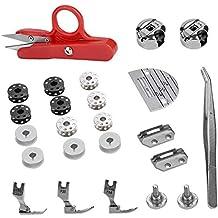 27 piezas de cama plana industrial Juego de costura Accesorios para máquinas de coser Repuestos regulares