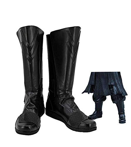 Botas de Cosplay de pelicula Botas de Guerrero Negro Macho Pelicula reversa Personaje Zapatos Carnaval de Halloween Cosplay Shoes