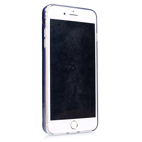 Coque iphone 7 Plus Flüssigem,Luxe Coque iphone 7 Plus,iphone 7 Plus Bling Bling Gliter Sparkle Housse,Ekakashop Creative 3D Motif Dual Layer Transparente Clair Cristal Clear étui Shiny Brillant Stras Grand Amour Noir Pourpre