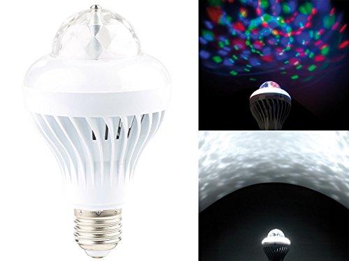 Rotierende Disco-LED-Lampe, Galaxie-Effekt, Weißlichtmodus, E27, 5 W (Discobirne) (Led-galaxy Light)