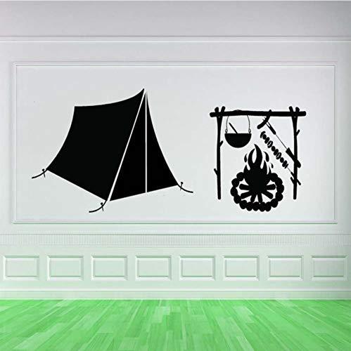 Qqasd Kunst Camping Geschenke Muster Wandmalereien Cambin Zelt Lodge Vinyl Wandaufkleber Für Home Room Spezielle Dekor Abziehbilder45x78 cm -
