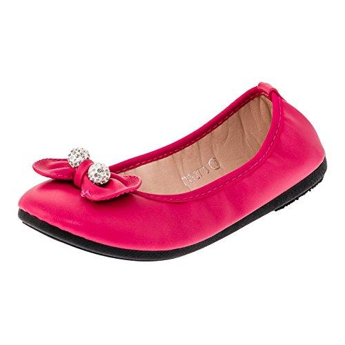 Festliche Kinder Mädchen Ballerinas Schuhe in vielen Farben für Partys und Freizeit M287go Gold...