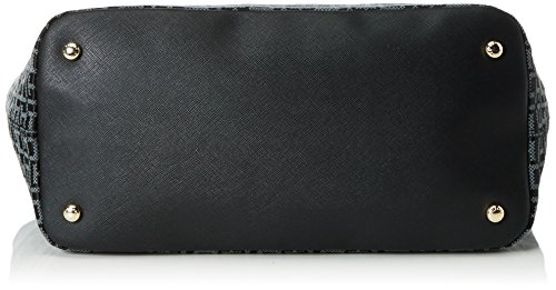 Tommy Hilfiger Th Essential Th Signature Tote Jac., Sacs portés main Multicolore - Mehrfarbig (Black / Iron 901 901)
