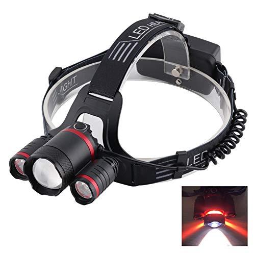 Lampe frontale, zoom-sensible à la lumière flash à la lumière Lampe avec IPX5 étanche et recharge USB pour la pêche, le Camping,Pêche, Chasse,Cyclisme, Activités de Plein Air , lampe de poche, phare