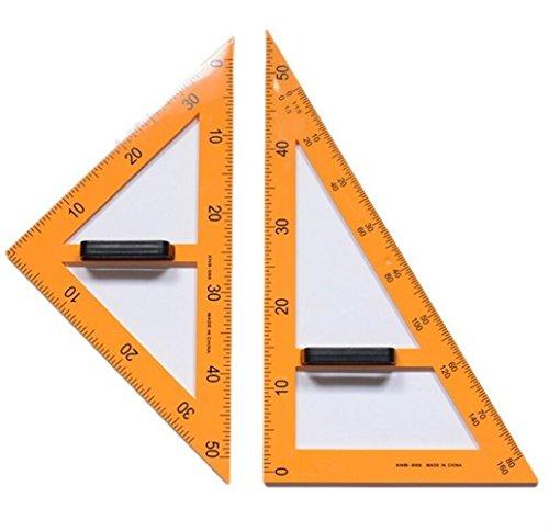 Individuelles exklusives Briefpapier-Präsentations 2 Stück Herrscher Set magnetische Tafel und Whiteboard Lehrmittel Set - gelb (Individuelles Briefpapier Für Lehrer)