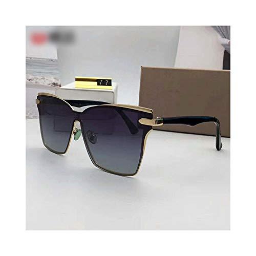 Easy Go Shopping Classic Square Driving Polarized Sunshade, Mode Sonnenbrillen für Frauen Männer Sonnenbrillen Sonnenbrillen und Flacher Spiegel (Farbe : Grey Gradient)