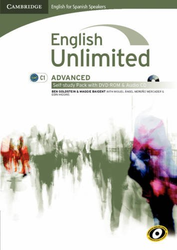 English unlimited for spanish speakers advanced self-study pack (workbook with dvd-rom and audio cd) (Edición para España)
