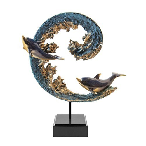 wave-runners-dolphins-stonecast-sculpture-big-sky-carvers-by-marc-pierce-collection