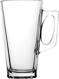 Tall Glass Latte Coffee Mug, 13.25oz 14.5cm Single.