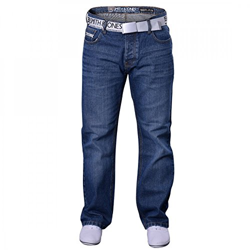 Smith and Jones Mens Bootcut Flared Wide Bottom Hardwearing Fashion Denim Jeans- Jeremilio