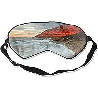 Coastline Ocean Cool Eye Atmungsaktiver Augenschutz Schlafmaske für Männer Frauen Kinder Weiß preisvergleich bei billige-tabletten.eu