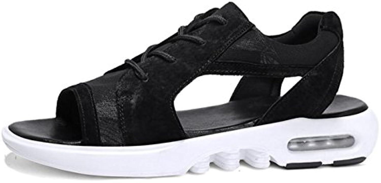 DANDANJIE Sandalias para hombre Zapatos Sandalias de suela liviana para el verano al aire libre Negro/Blanco (  -