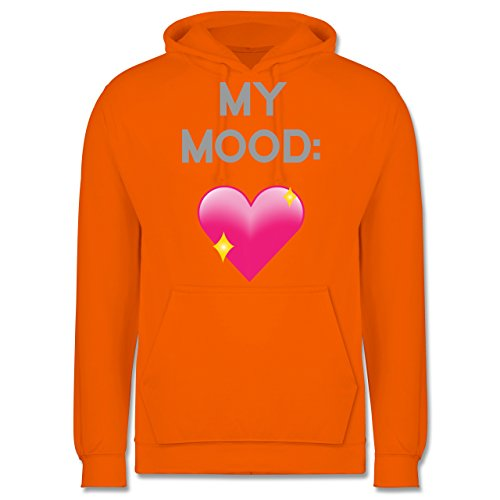Statement Shirts - My Mood: Glitzerherz - Männer Premium Kapuzenpullover / Hoodie Orange