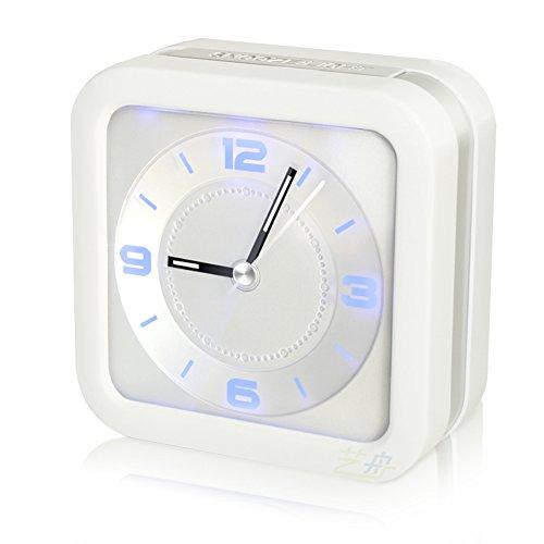 GX&XD Clásico Mini Reloj Durmiente Pesado No Tic-TAC