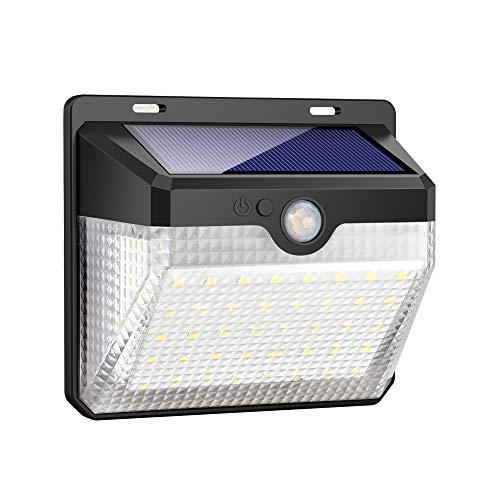 iposible Solarleuchte für Außen, 60 LED Solarlampen mit Bewegungsmelder Wasserdichte 2000mAh Solar Beleuchtung LED Solar Wandleuchte mit 3 Modi Solarlicht für Garten,Patio