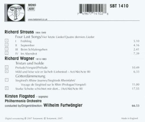 R. Strauss: Four last songs / Wagner: Tristan und Isolde, Götterdämmerung