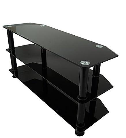 Mountright TV-Regal BGT4, für Bildschirme von 32-60Zoll (81-152cm), schwarzes Glas (Schwarz Glas-lcd-tv-ständer)