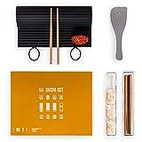 Blumtal Sushi-Set 7-teilig - Extra große Sushi Matte aus Silikon, spülmaschinenfest, inkl. Zubehör und Anleitung