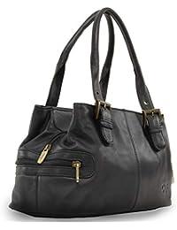 Gigi - Women s Leather Top Handle Handbag Shoulder Bag - OTHELLO 6165 02174929fb48a