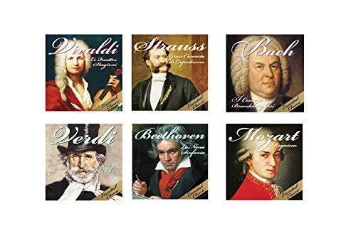 Super Offerta 6 CD Musica Classica, Concerti e Sinfonie, Mozart, Beethoven, Vivaldi, Strauss, Bach, Verdi