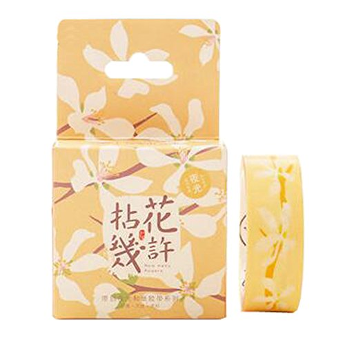 2ST-japanisches Vintages Luminous DIY dekorative Masking Tape Klebeband Sticky Papier, Q
