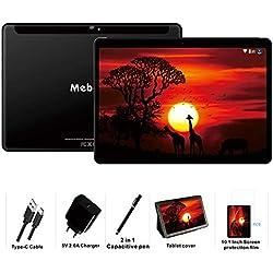 Tablette Tactile 10 Pouces Android 9.0 Pie MEBERRY - 64Go, 4Go de RAM Tablettes 4G LTE Dual SIM,GPS, WiFi, Bluetooth, Type-c - 5.0+8.0 MP Caméra - Noir