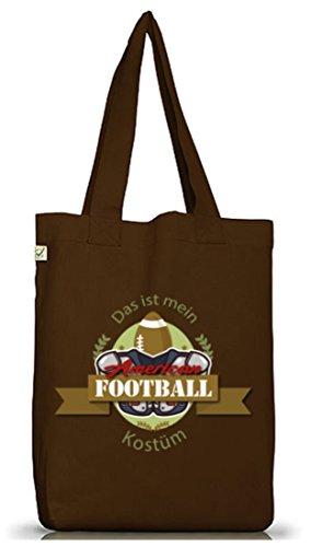 Kostüm Fan Browns - ShirtStreet American Football Kostüm für NFL Superbowl Fans, Größe: onesize,Brown