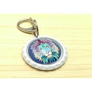 handgemachter Schlüsselanhänger Kronkorken – Löwe – Cabochon / Glasversiegelung - Handmade