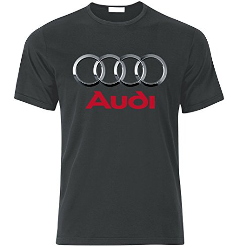 Fan T-shirt Jersey (Audi Sport S Line Quattro TT S3 S4 S5 S6 S8 RS R8 RS6 RS4 Fan T Shirt T-Shirt (XL, Graphite))