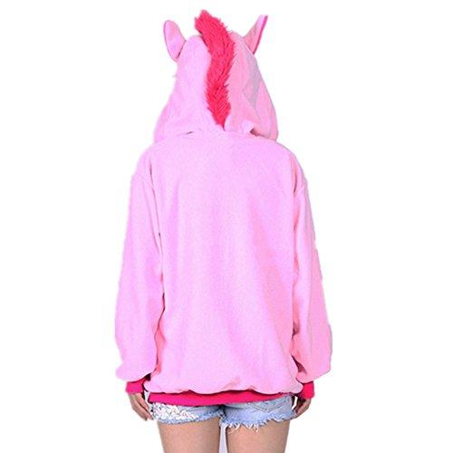 Misslight Unicorn Pyjamas dames Combinaisons Costumes animaux tenue d'animaux pyjama grenouillère animaux avec le festival de costumes licorne adultes ajustement Rosa Sweatshirts