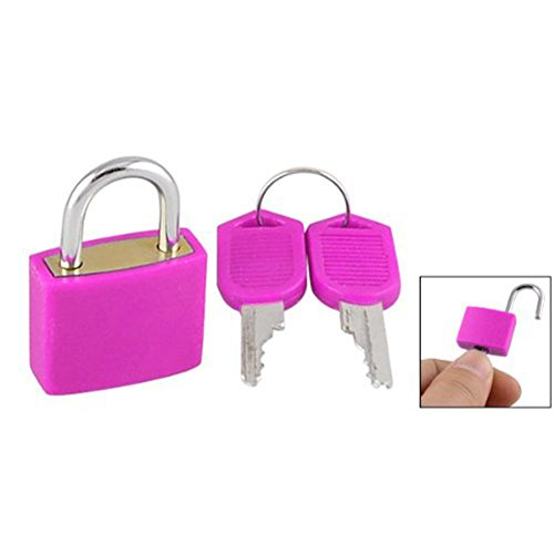 distinctr-2pcs-travel-tiny-suitcase-lock-drawer-cabinet-toolbox-padlock-gym-lockers-keysrose-red