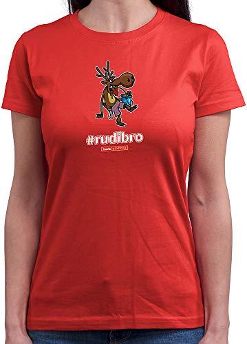 HARIZ  Damen T-Shirt Rundhals Pixbros Rudibro Xmas -